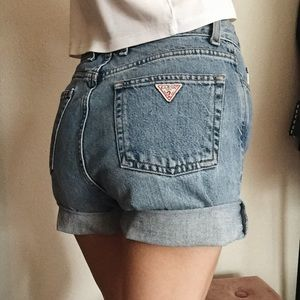Vintage high waisted Guess shorts
